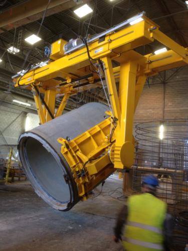 Basculeur à ventouses ACIMEX pour tuyaux en béton-emond