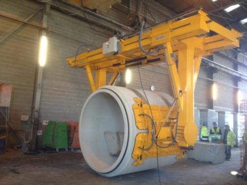 Basculeur à ventouses ACIMEX pour tuyaux en béton