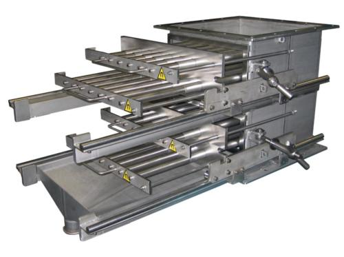 Séparateur à grilles magnétiques à nettoyage semi-automatique