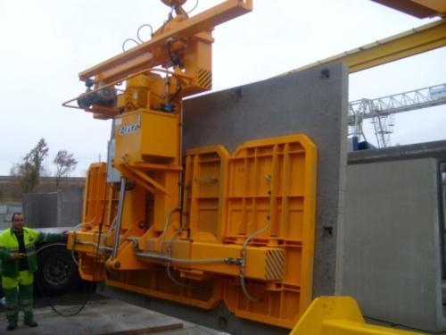 Manutention de béton à l'aide de ventouses